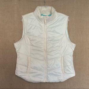 Aeropostale Womens Puffer Vest Zip Up White XL